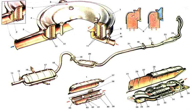 45)Дополнительный глушитель.